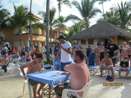 Beer Drinking Game Picture Of Grand Bahia Principe