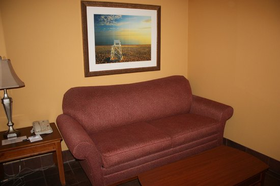 BEST WESTERN PLUS Grand Strand Inn & Suites : Our sitting area