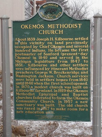 Okemos Methodist Church Historical Marker