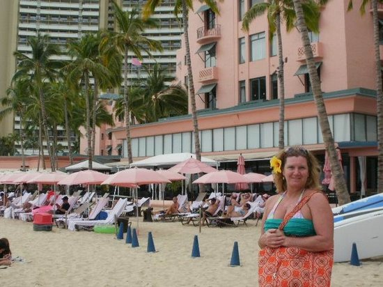 The Royal Hawaiian, a Luxury Collection Resort:                   Hotel and beach area