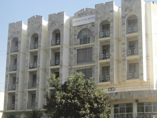 Ethio-Star Hotel :                                     Hotel front with balconies