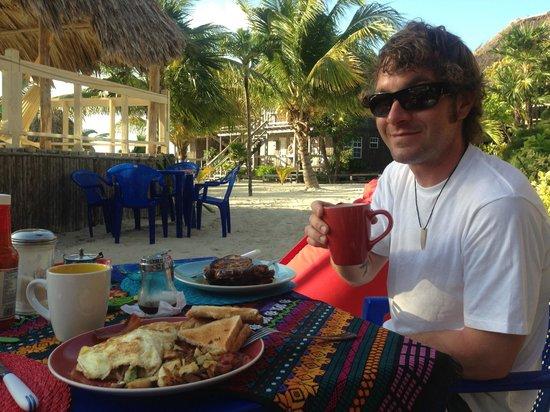 Melt Cafe:                   Enjoying tasty breakfast