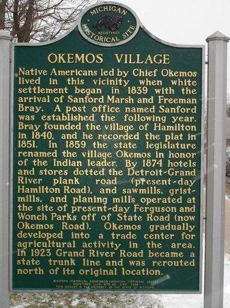 Okemos Village Historical Marker