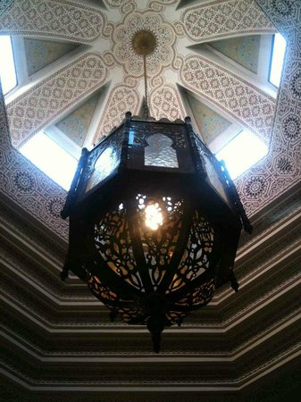 Riad Amira Victoria:                   Their exceptional light and detailed decorative ceiling.
