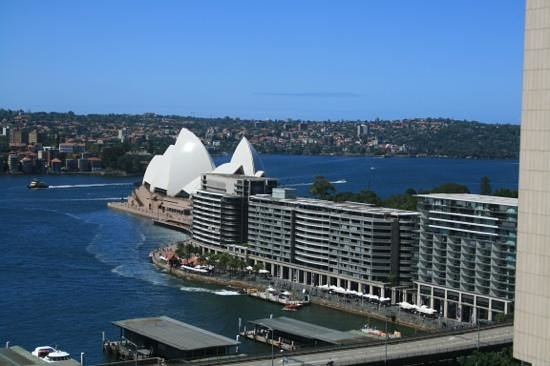Sydney Harbour Marriott Hotel at Circular Quay:                   the view from our room.