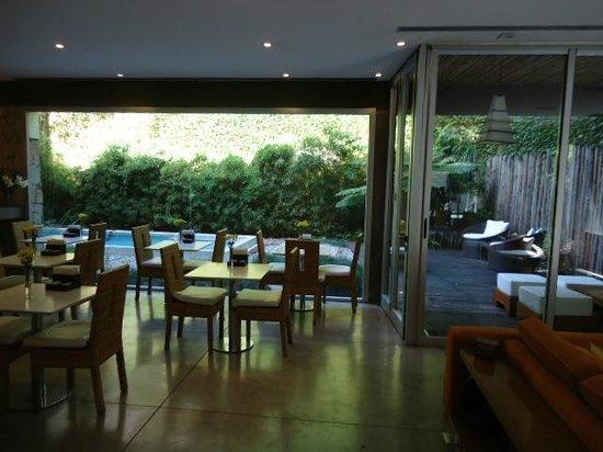 Mine Hotel Boutique:                   Breakfast area looking towards outdoor pool                 