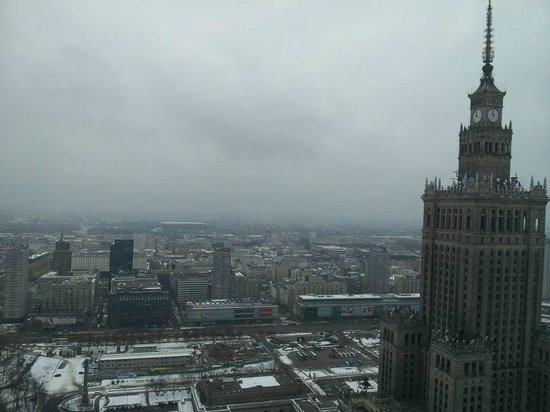 InterContinental Warszawa:                   Great view from our corner room on the 36th floor