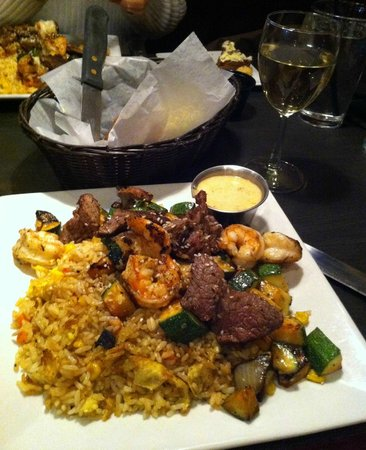 Liberty Brewery & Grill : Hibachi Shrimp & Steak