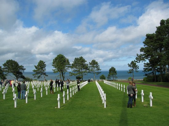 D-Day Beaches (Plages du Debarquement de la Bataille de Normandie):                   American cemetary at D Day beaches