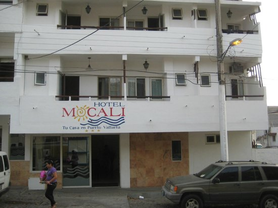Hotel Mocali:                   view from across the street