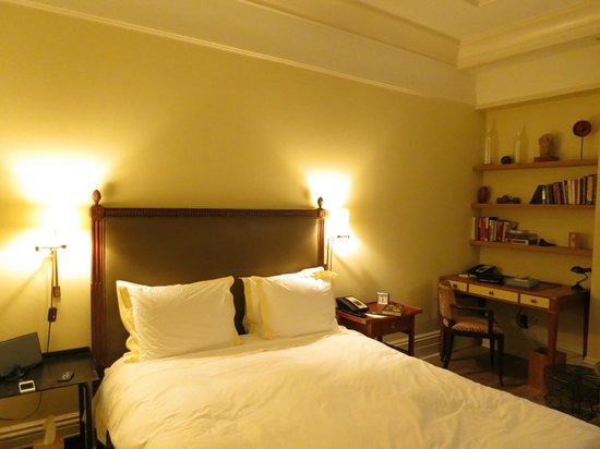 Greenwich Hotel : pretty bed but not comfortable...bummer