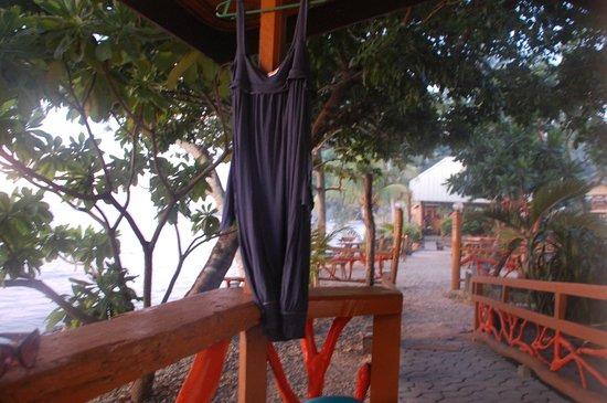 Kalinga Beach Resort : View from balcony