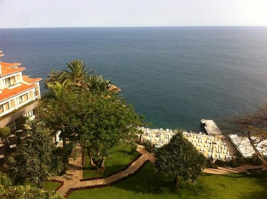 The Cliff Bay (Porto Bay):                   View from the room