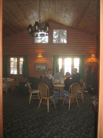 Solbakken on Superior :                   8 place dining table, great gathering place
