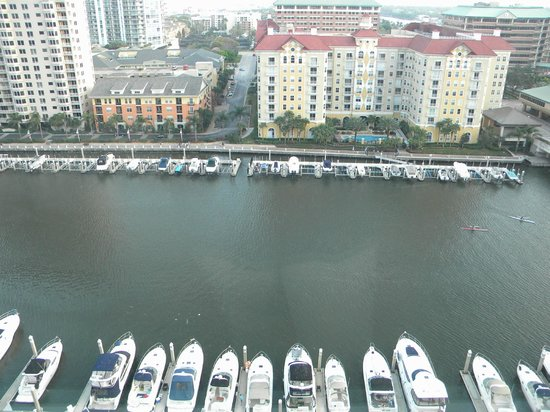 Tampa Marriott Waterside Hotel & Marina:                   View from waterside room.