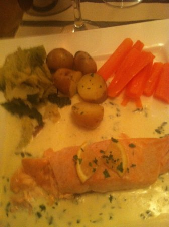 AJ's Bistro:                   My first piece of salmon