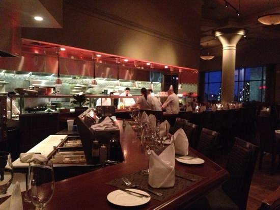 Davio's Northern Italian Steakhouse at Patriot Place: very nice ambiance.