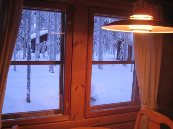 Hotel Jeris: view from dining area of cabin 16