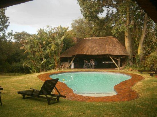 African Footprints Lodge:                   Poolside