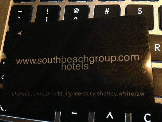 Whitelaw Hotel:                                     room key