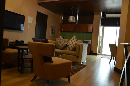 Goldberry Suites & Hotel:                   TV,Sound and some of the dining room.
