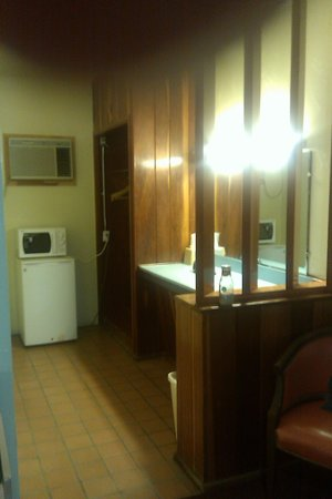 Royal Inn:                   Microwave and refrigerator in dressing room