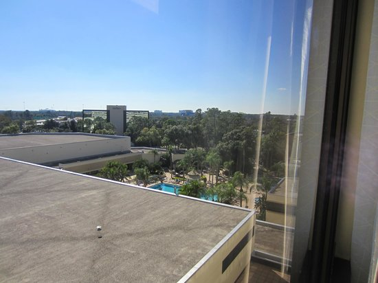 Hilton Orlando Lake Buena Vista - Disney Springs™ Area: View of pool area from room