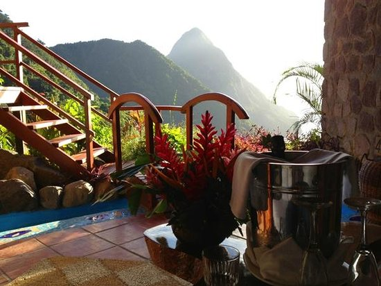 "Ladera Resort:                   Ladera ""Petit Piton room"""
