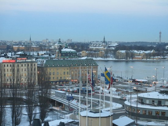 Hilton Stockholm Slussen: View from the room during day time