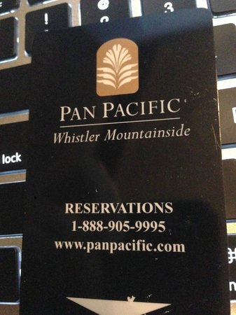 Pan Pacific Whistler Mountainside:                   room key