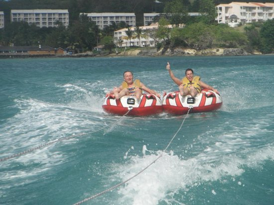 Sandals Halcyon Beach Resort:                                     Tubing