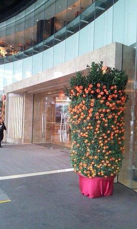 Shangri-la Hotel Shenzhen:                   旧正月の飾り
