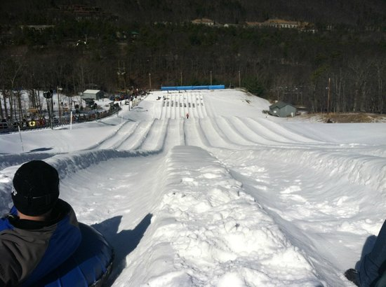 Massanutten Resort: View from the top of the tubing hill