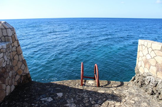 Rockhouse Hotel:                   Ladder to the sea - some were a bit steep!