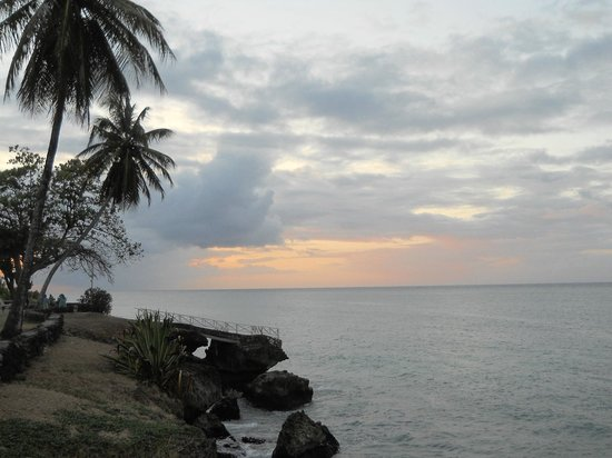 Crown Point Beach Hotel:                   Sunset view from the grounds