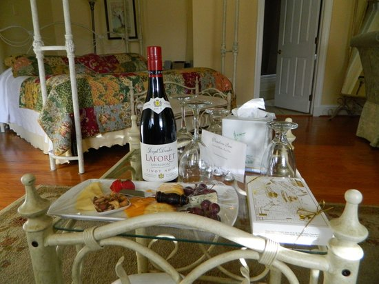 Vandiver Inn:                   Wine and cheese plate, along with some Bomboys chocolates we purchased separat