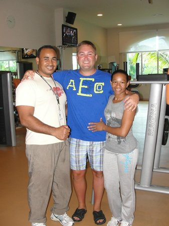 Majestic Elegance Punta Cana:                   Melanio and Elisa - Spinning and Gym staff