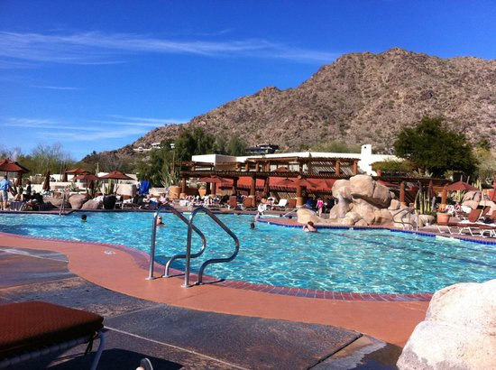 JW Marriott Scottsdale Camelback Inn Resort & Spa:                   Poolside splendor....