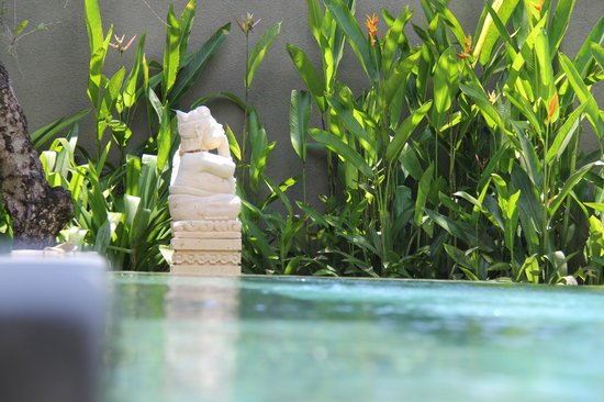 The Ulin Villas & Spa:                   Pool side