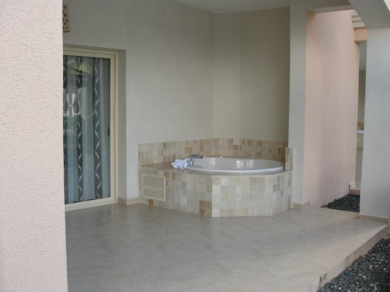 Majestic Elegance Punta Cana:                   Jcuzzi Tub on our patio #3137