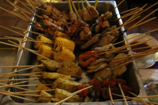 The Ulin Villas & Spa:                   BBQ dinner