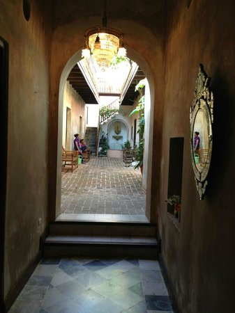 Villa Herencia:                   from the hotel entry hallway