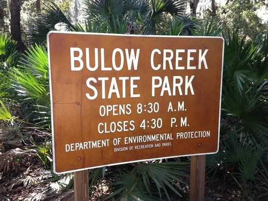 Bulow Creek State Park: Welcome to the Park