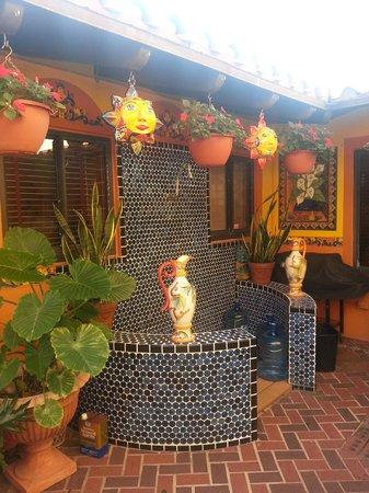 Blue Seas Courtyard:                   Beautiful outdoor tile shower