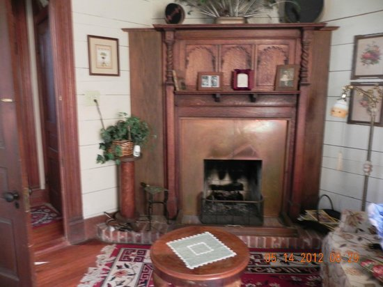 Pecan Street Inn:                                     fireplace in master bedroom