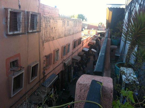 Riad Nesma:                   Vista desde la Terraza