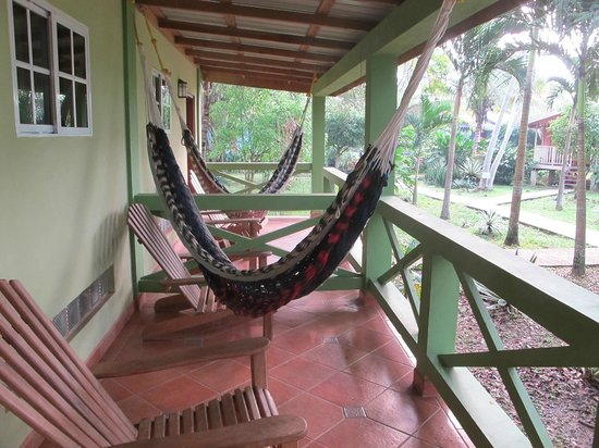 Midas Belize:                   Porch of our room