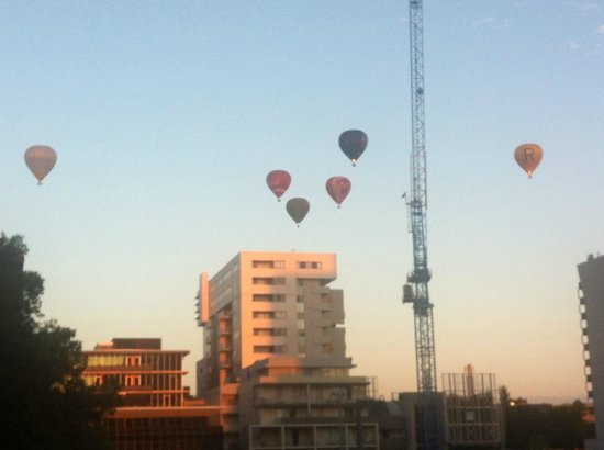 Art Series - The Olsen:                   Balloons passing the hotel early on a sunday morning - view from our room.
