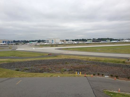 Future of Flight Aviation Center & Boeing Tour: View from observation deck.