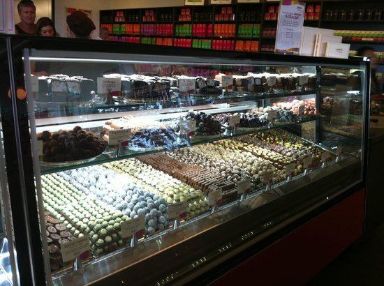 Yarra Valley Chocolaterie & Ice Creamery:                                     One section of the gourmet truffle range (don't miss the Gra
